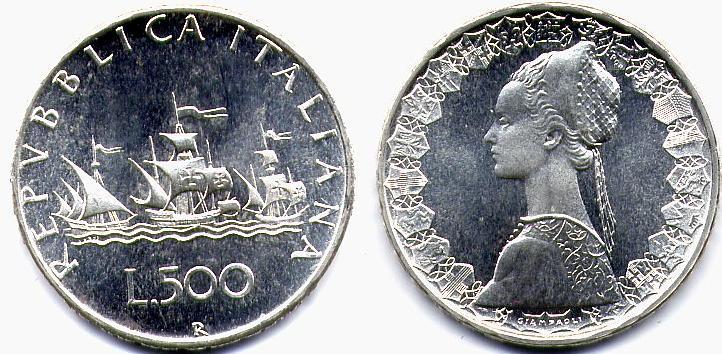 e8f3fffb31 Repubblica Italiana (dal 1946): 500 lire 1969